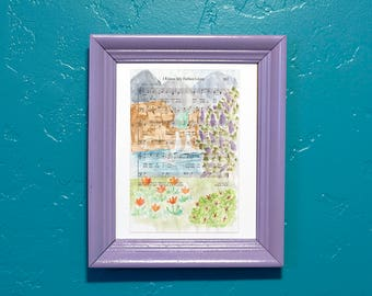 Hymn Art I Know My Father Lives LDS Watercolor Page Print