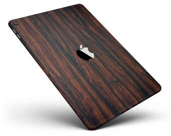 Rich Mahogany - Apple iPad Luxury Textured Wood Decal Kit (All iPads Available)