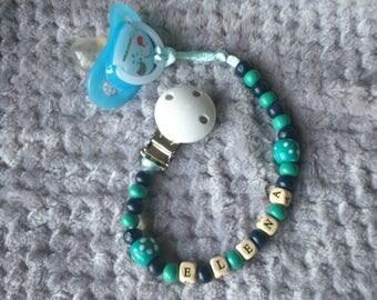 "Pacifier model ""Elena"" wood beads"
