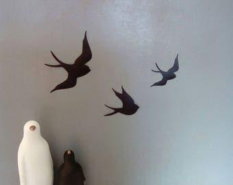 Black birds wall stickers