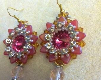 tisage earring swarovski crystal and Czech