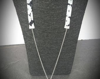 Liberty fabric and metal necklace