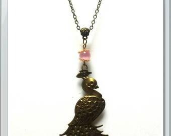 Bronze Peacock necklace
