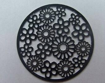 Disc 31 mm flower filigree