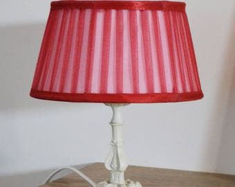 VERY FEMININE PATINA BRASS LAMP