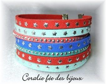 Multicolor Cuff Bracelet star