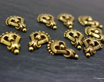 set of 5 art deco 25 x 17 mm