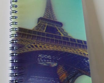 Paris Eiffel Tower 3D cover notebook spiral A6 size