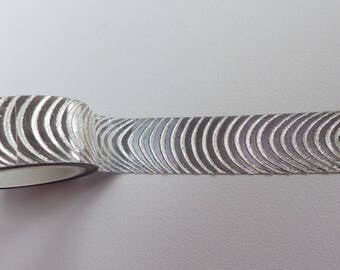 masking tape silver holographic wave 15 mm X 3 m