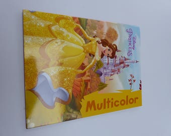 Multicolor color book Disney princess princesses coloring book