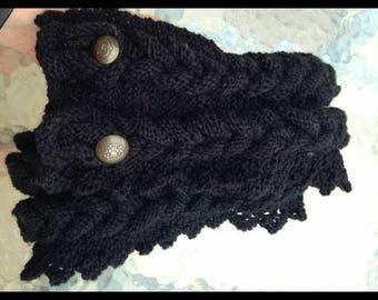 """Black """"Braid"""" custom scarf"""