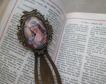Jesus Christ bookmarks vintage cabochon glass bronze 9 cm x 2.8 cm