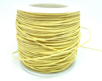 5 Metters yellow 1 mm waxed cotton thread