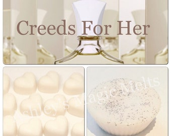 creed for her perfume soy wax melts, designer dupe melts, strong perfume dupe melts, best cheap wax melts, scented gifts for her