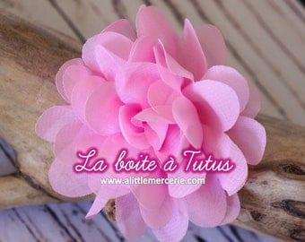 ★ Flower Applique fabric Lily chiffon strapless headband diy belt ★ ROSE