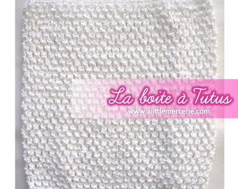 7/8/9/10 years stretch crochet tutu dress strapless white girl