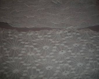 White lace fabric coupon