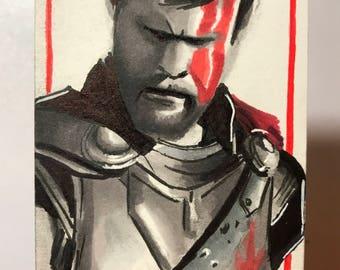 Thor Ragnarok - Artist Sketch Card