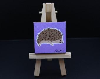Miniature Hedgehog Painting