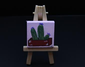 Miniature Cacti Painting