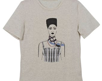 The 90s Graphic Girl T shirt(Stone)