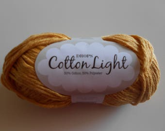 cotton mustard 50 g skein is 105 knitting or crochet with 4 m