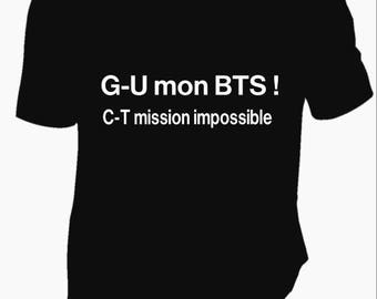 "shirt text ""I got my BTS"""