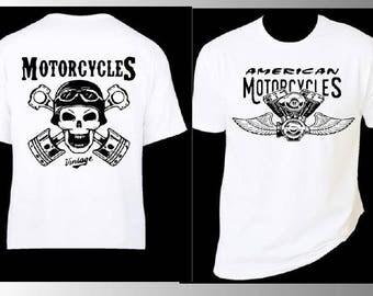 SKULL MOTORCYCLE TSHIRT