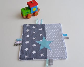 Taggy handmade blue and gray stars @lacouturebytitia