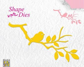 Die cut 1 Die branch birds 10, 5 x 4, 5cm - SD106