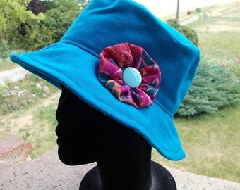 Hat fabric summer cotton bachette blue Gypsy