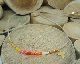 "Bracelet ""Miyuki Rainbow"" Clementine"