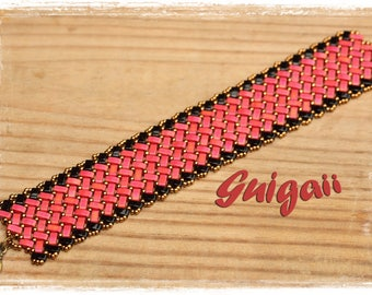 Azteca bracelet red and black