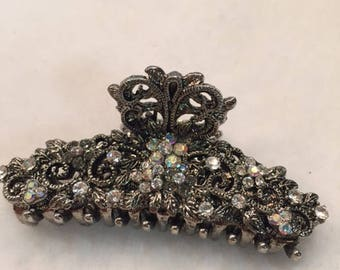 Vintage Jeweled Butterfly Hair Clip