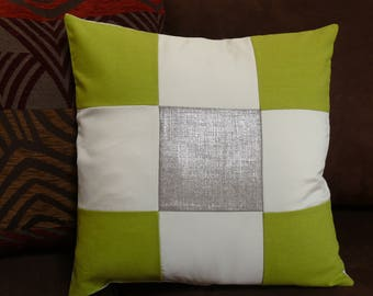 Cushion cover in linen, hemp, organic cotton and satin
