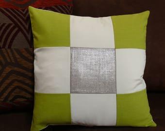 Cushion cover in linen, hemp, organic cotton and satin
