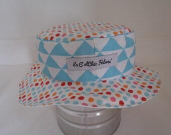 Hat - Reversible bucket Hat - 9-12 months (47.5 cm diameter)