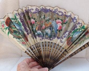 Vintage paper Folded Fan