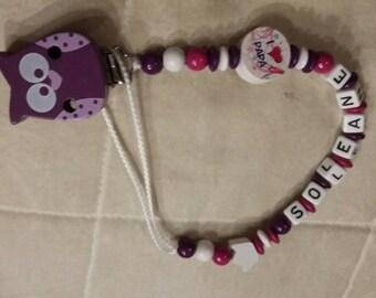 OWL purple Crown pacifier