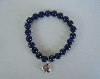 Lapis Lazulis stone of the Crystal healing bracelet