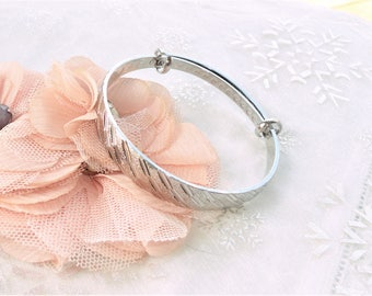 stainless steel, silver plated Bangle Bracelet