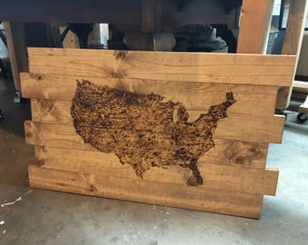 Burned Map of the United States