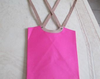Pink bag packaging