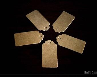 20 tags in natural Brown kraft paper