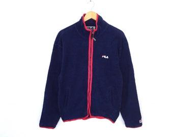 Fila Small Logo Spellout Embroidery Zipper Jacket Fleece