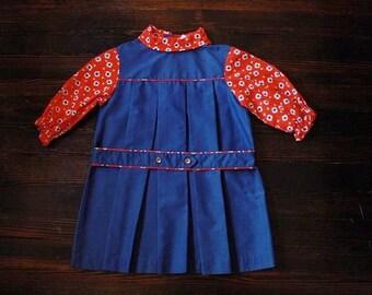 Vintage girls turtleneck dress 1960s Sears size 6