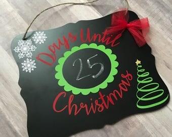 Christmas Countdown Chalkboard | Christmas Chalkboard | Countdown to Christmas |