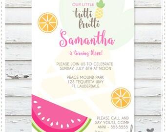Tutti Frutti Birthday Invitation