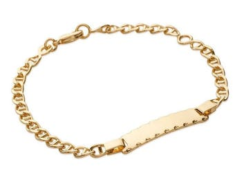 Plated mixed chain bracelet gold 16 cm / 64486116