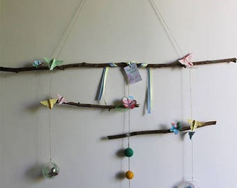 Mobile paper mache * fly fly butterfly *.